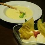 44577078 - クリームチーズとうふ☆     ポタージュスープ