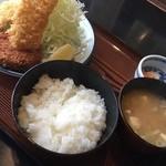 もとじ 和風レストラン - ミックスフライランチ700円