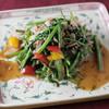 空芯菜と牛肉のにんにく炒め
