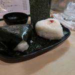 隼 - 炊きたてご飯のおにぎり(明太子・すじこ)&こだわりの味噌汁