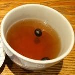 天丼 金子半之助 - 黒豆茶