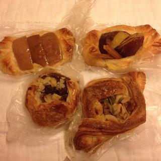 パンの夢工房 しほや - リンゴ、栗、芋、ナッツのデニッシュ四天王