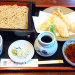 十割蕎麦もんぜんや - 二八 天付きそば ¥1500