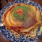 安芸もみじ亭 - 広島風お好み焼き、もち・チーズ!周りの人も注文していて人気のようでした。