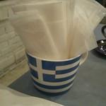 スパルタ - ギリシャ国旗って可愛いね。