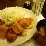がんこ - 野菜と鶏の黒酢あんセット