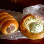 マルベリー - 人気ナンバー2のチョココロネ(確か190円くらい)&卵がまるごと一つ入った調理パン☆