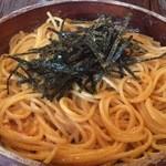 スパゲティーnokishita - たらことウニのスパゲッティー カラクチ