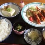 竹山食堂 - エビフライ定食