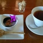 44606122 - 黒豆プリン&紅茶