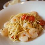 グラヴィータ - 小エビとミニトマトのスパゲッティ