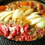 はくよ庵 - 料理写真:はくよ庵のトマトすき焼き