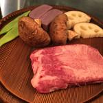 オーシャンセブン - 料理写真:厚切り和牛 牛タンステーキ