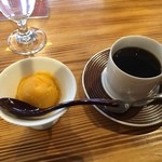 リール アフェアー - 柿のジェラートと  コーヒー