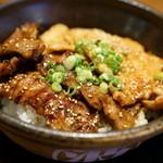 北海道マルハ酒場 - 2015.11 合盛カルビ丼大盛アップ
