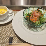 44610391 - サラダとスープ