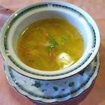 デルソル カフェ - 「本日のオススメランチ」スープ