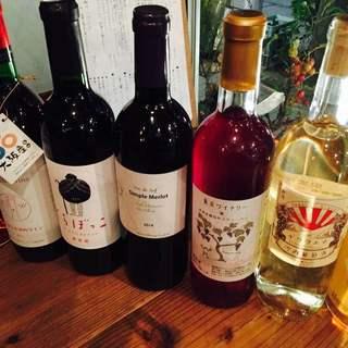 国産ワイン、オーガニックワイン、国産クラフトビール、日本酒