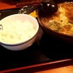 藍麻翔 - セットのご飯