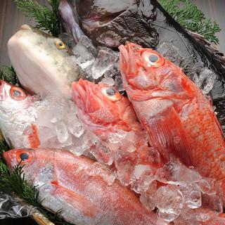目利きした新鮮魚介類を♪