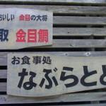 44618911 - きんめ処 なぶらとと(静岡県賀茂郡東伊豆町稲取)看板