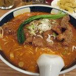 支那麺 はしご - 排骨坦々麺(だんだん麺)大辛