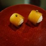 近為 - (2015/9月)瓜の奈良漬の一口寿司