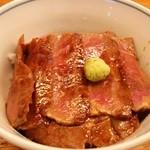 おそばの甲賀 - 期間限定 牛ハラミステーキ丼
