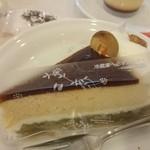 44623597 - 抹茶と黒糖のケーキ。