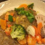 ナチュラルキッチン アリンコ - 有機野菜とエビのカレー。有機野菜が食べたくて。優しいお味。