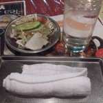 花菜 - ・水と一緒にサラダ