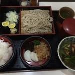 44625147 - 鶏つけめんそば/定食(900円/250円)