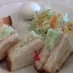 うみねこ - ハムサンド トーストしてもらいました。