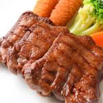 グリル アンドウ - ランチ US 牛タン厚切りステーキ