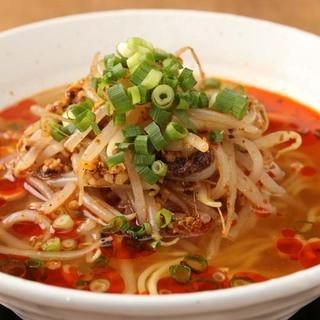 鶏清湯スープ×麻辣山椒油【辛みの紅湯(ホンタン)】