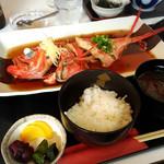 漁師カフェ 堂ヶ島食堂 - 金目の煮付け定食