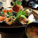 漁師カフェ 堂ヶ島食堂 - お刺身定食