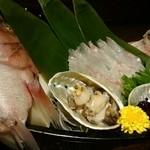 寿しやの台所 - 鯛とアワビ