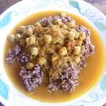 食堂 南風楽天 - インド式チャナ豆のカレー¥700(税込)☆♪