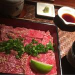 44643064 - 松阪牛レアステーキ重