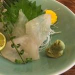 寿司元 - カワハギ刺身肝和え
