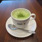 ドトールコーヒーショップ - 宇治抹茶豆乳ラテ