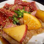wagyuuyakinikubarukuramoto - フルーツワイン漬け!和牛中落ちカルビ&和牛ロース