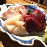 地酒と季節料理 おかやん - 刺身おまかせ3点盛り・650円