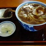 きそば若井 - 料理写真:鴨なんばん・そば 800円。