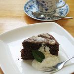 ギャラリー ぽっぽ - オーガニックコーヒーとバナナチョコケーキ