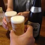 れすとらん 浪花亭 - H.27.6.16.昼 ビール(中) 380円de乾杯♪