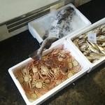 サンチョク鮮魚荒木 - 外にはカニや鯵、イカ等の鮮魚センター