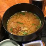 おひつ膳 田んぼ - なめ茸の味噌汁