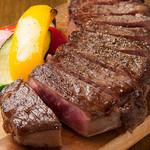 道産牛サーロインのスモークステーキ